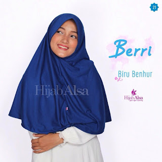 Hijab Alsa Berri Biru Benhur