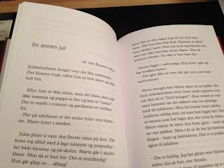"""Utdrag fra novellen """"En annen jul"""" av Gro Jeanette Nilsen, i juleantologien Desember."""