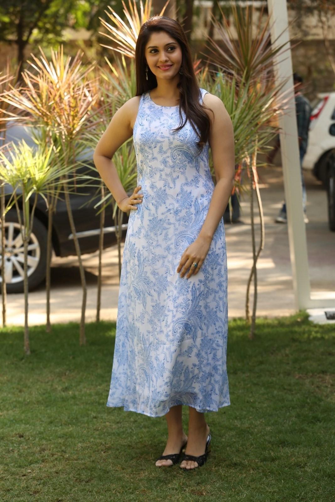 Surabhi  Photos In Blue Dress