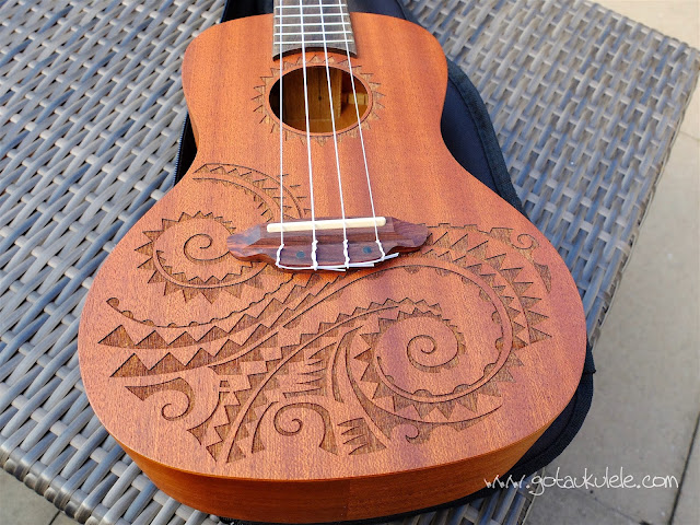 Luna Tattoo Concert Ukulele top