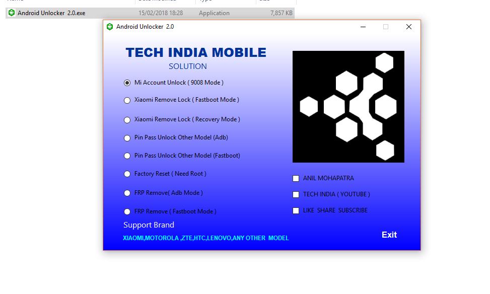 Android Unlocker Tool 2 0 | Remove mi account & Frp | CMMOBILE