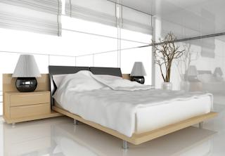 Cahaya sehat dan tepat untuk kamar tidur