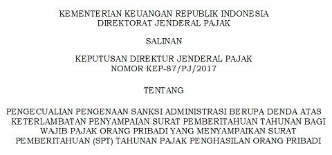 Batas Waktu Penyampaian SPT Pajak Diperpanjang Hingga 21 April 2017