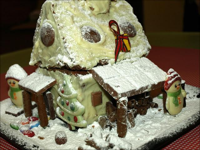 Χριστουγεννιάτικο-κέικ-σπιτάκι!