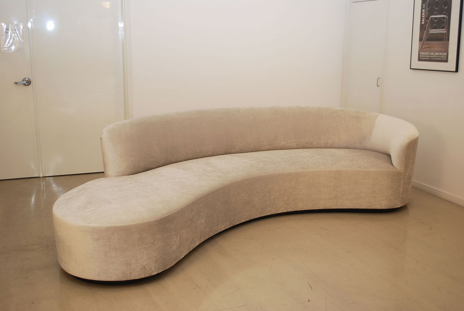 Classic Design Vladimir Kagan Inspired Curved Sofa
