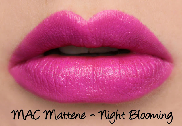 MAC MONDAY | Taste Temptation - Night Blooming Mattene Swatches & Review