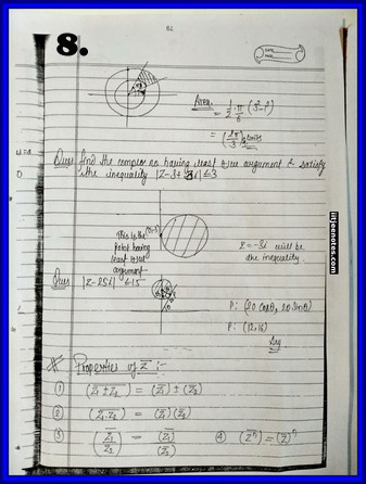 iitjee notes on complex number 8