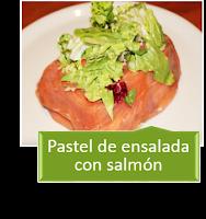 PASTEL DE ENSALADA CON SALMÓN