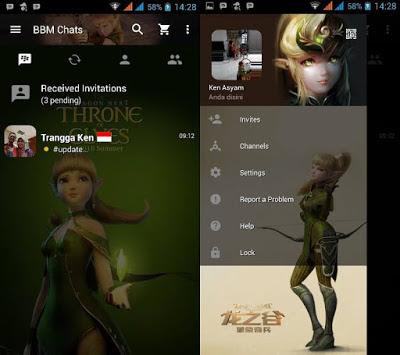 BBM MOD Dragon Nest Archer V3.0.0.18 APK terbaru 2016