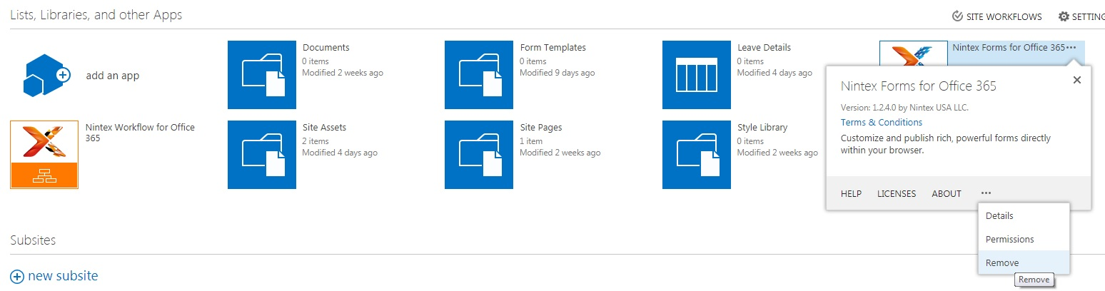 Office 365 –Missing Nintex Icons on the top ribbon - Things
