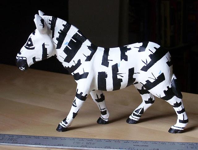 zany zebra miniature by M P Davey