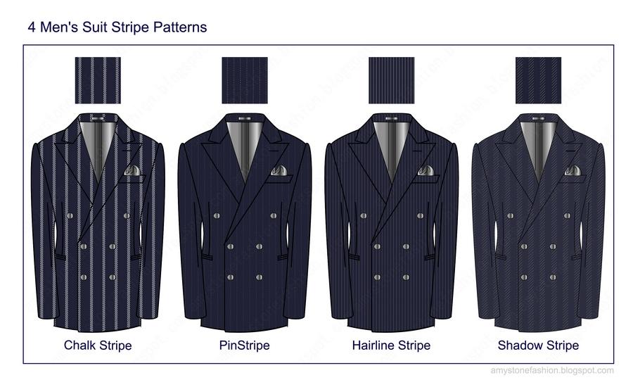 4 Men S Suit Stripe Patterns