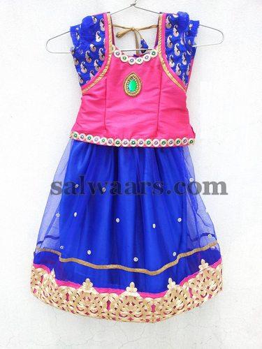 Parsi Work Kids Net Lehenga Indian Dresses