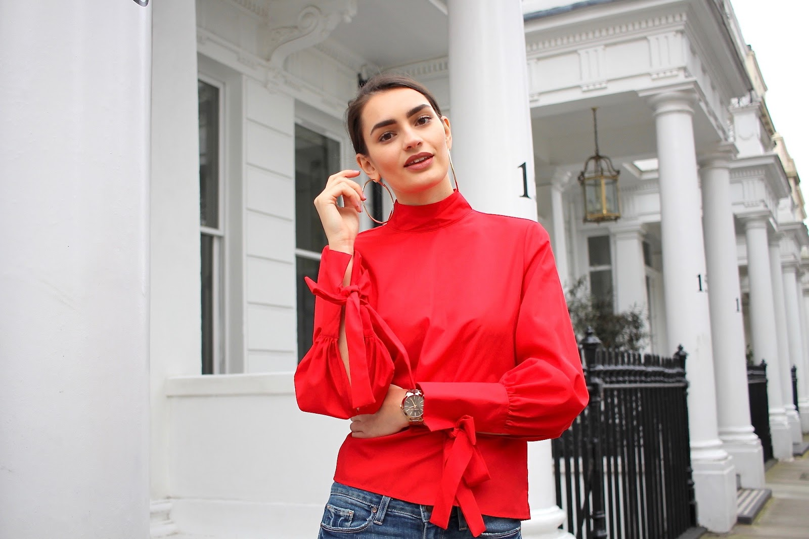 red top topshop peexo style blogger