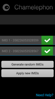 Aplikasi untuk  mengganti IMEI android