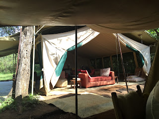 Safari sitting room tent