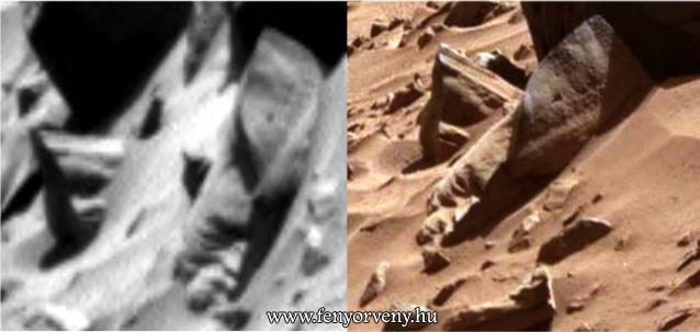 Szobor maradványok a Marson?