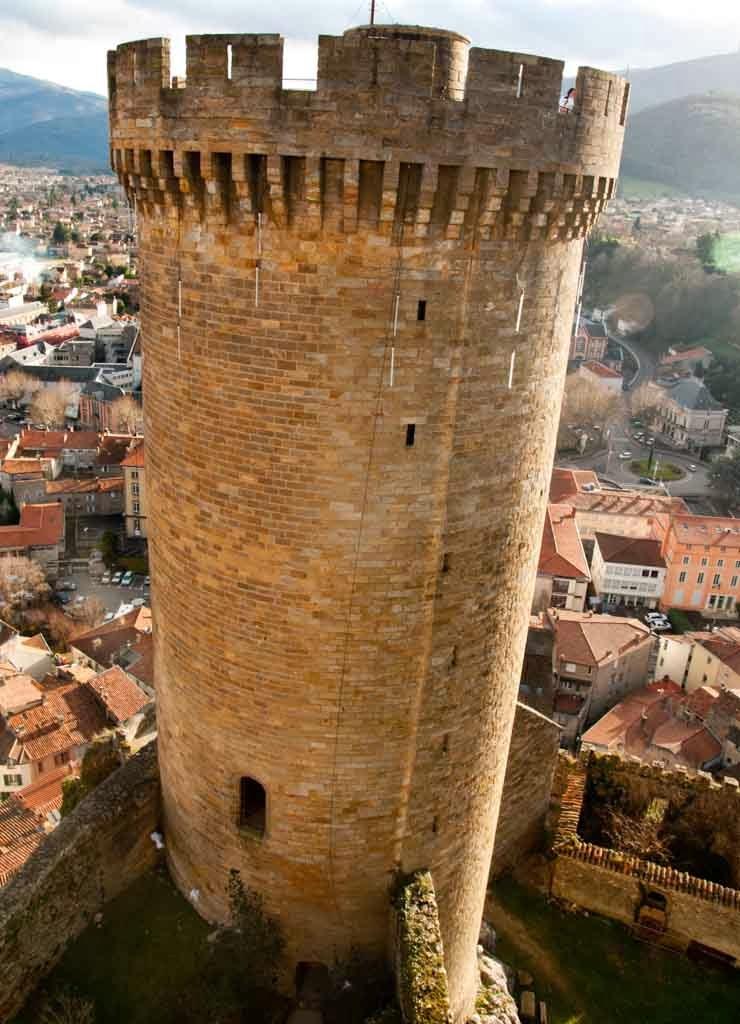 El castillo de Foix Francia