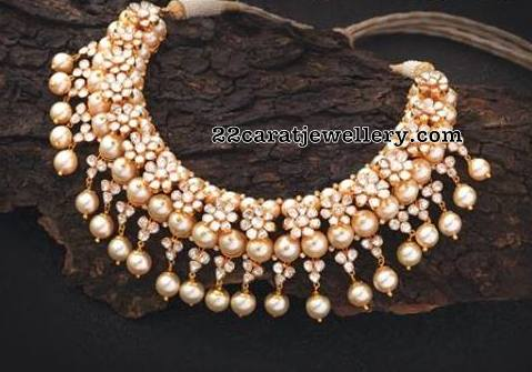 South Sea Pearls Floral Diamond Set