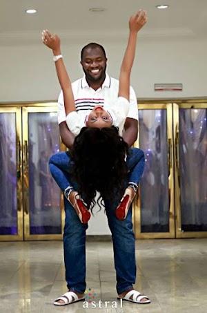 Lovely new  Naija Couple Share Romantic Pre-Wedding Photos