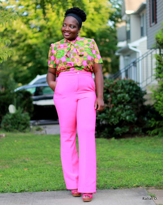 My DIY: A Printed Cotton Voile Bow Blouse + Simplicity 8215 Pattern Review