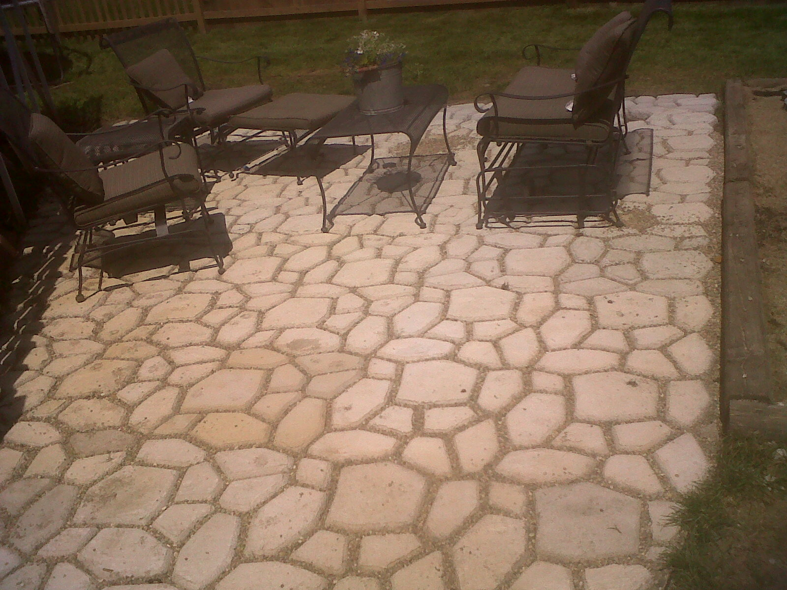pavers over concrete patio laura williams