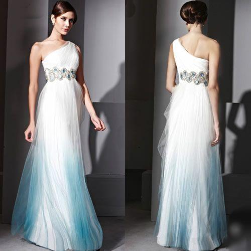 Winter Wonderland Wedding Gowns: Winter Wonderland Ombre Blue Gowns