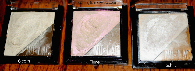 Review lluminanti in Crema Mulac Cosmetics pack  gleam flash flare hightlighter