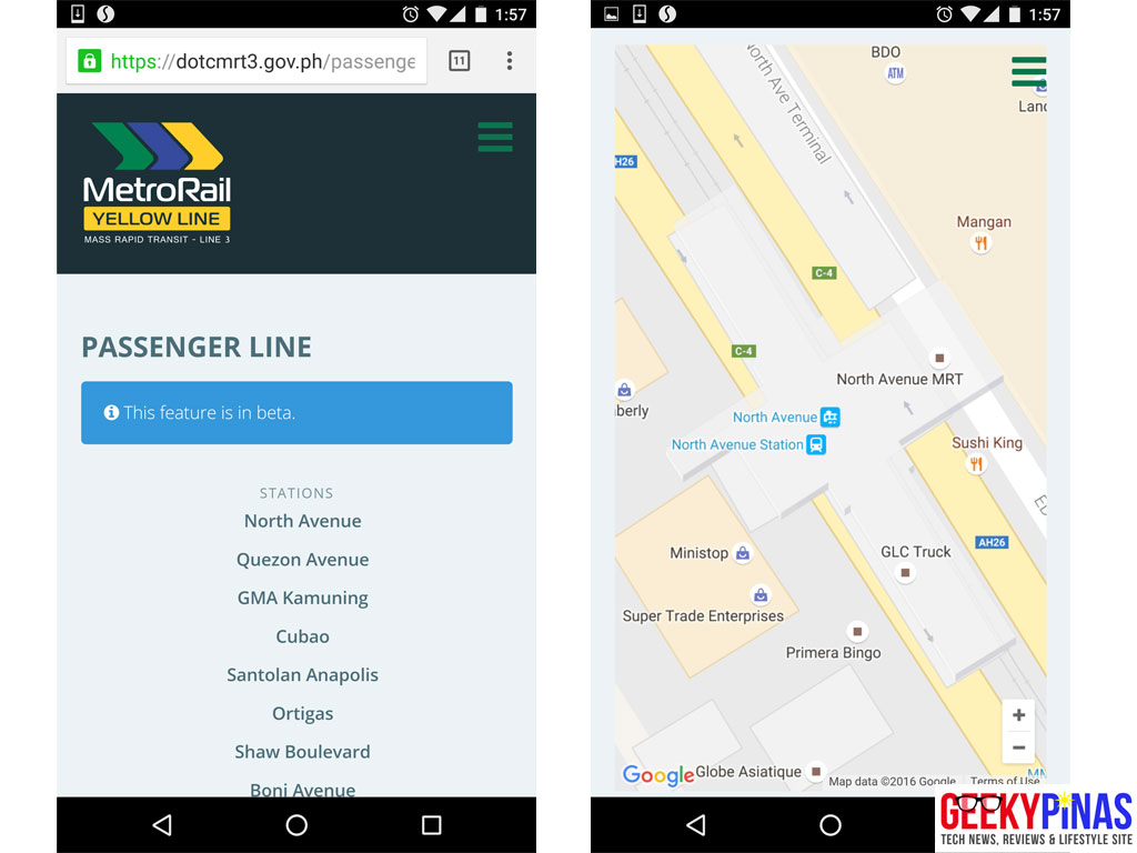 DOTC MRT3 Passenger Queue Monitoring System Mobile View