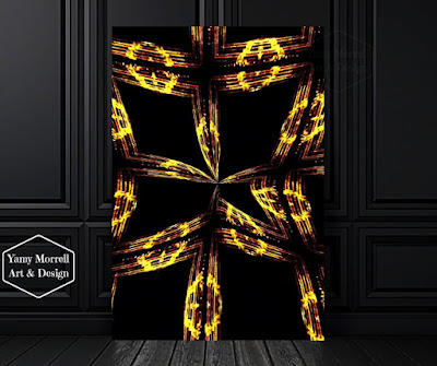 Golden-black-Digital-art-abstract-by-yamy-morrell