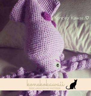 Kawaii Kraken Free Amigurumi Pattern form Amigurumi Kawaii