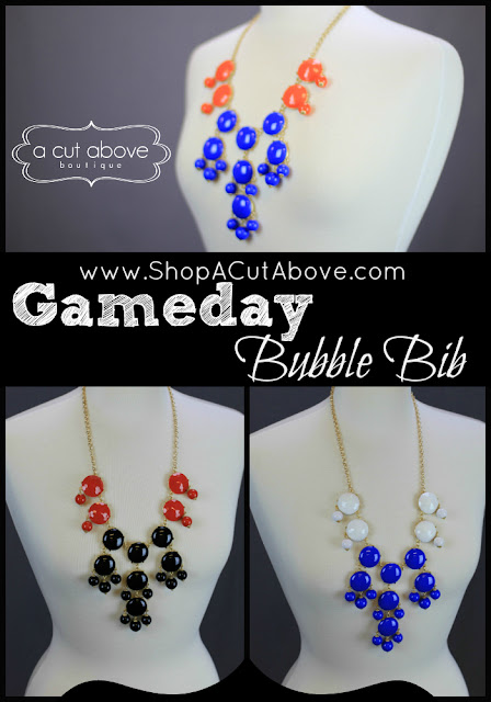 Multi colored bubble gem necklaces