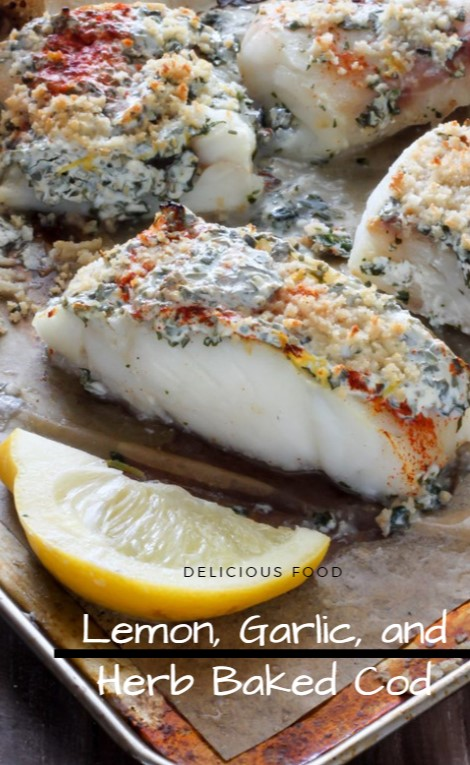 Lemon, Garlic, and Herb Baked Cod