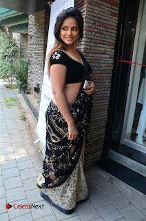 Actress Neetu Chandra Stills in Black Saree at Designer Sandhya Singh's Store Launch  0022.jpg