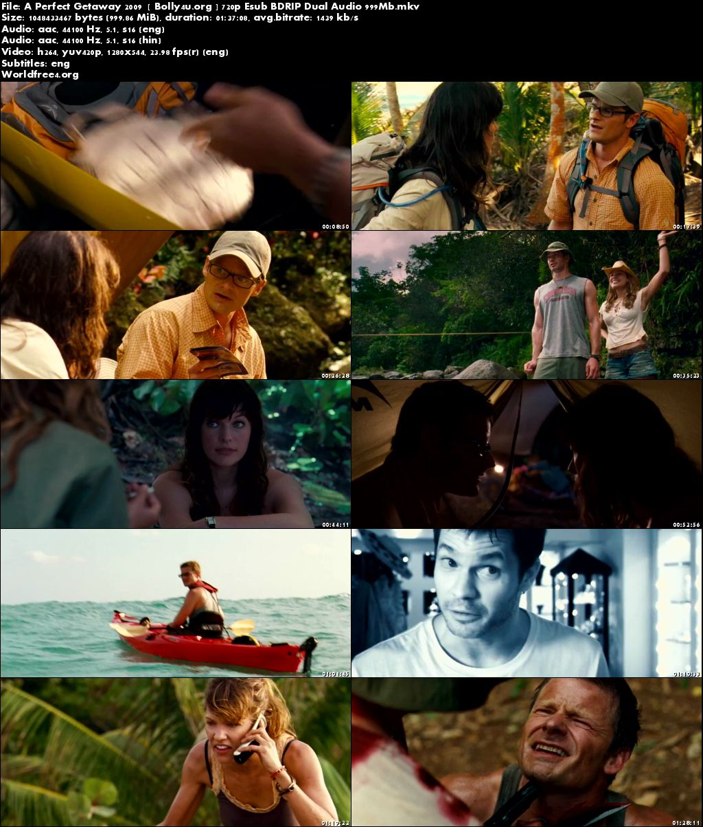 A Perfect Getaway 2009 BDRip 300Mb Hindi Dual Audio 480p Download