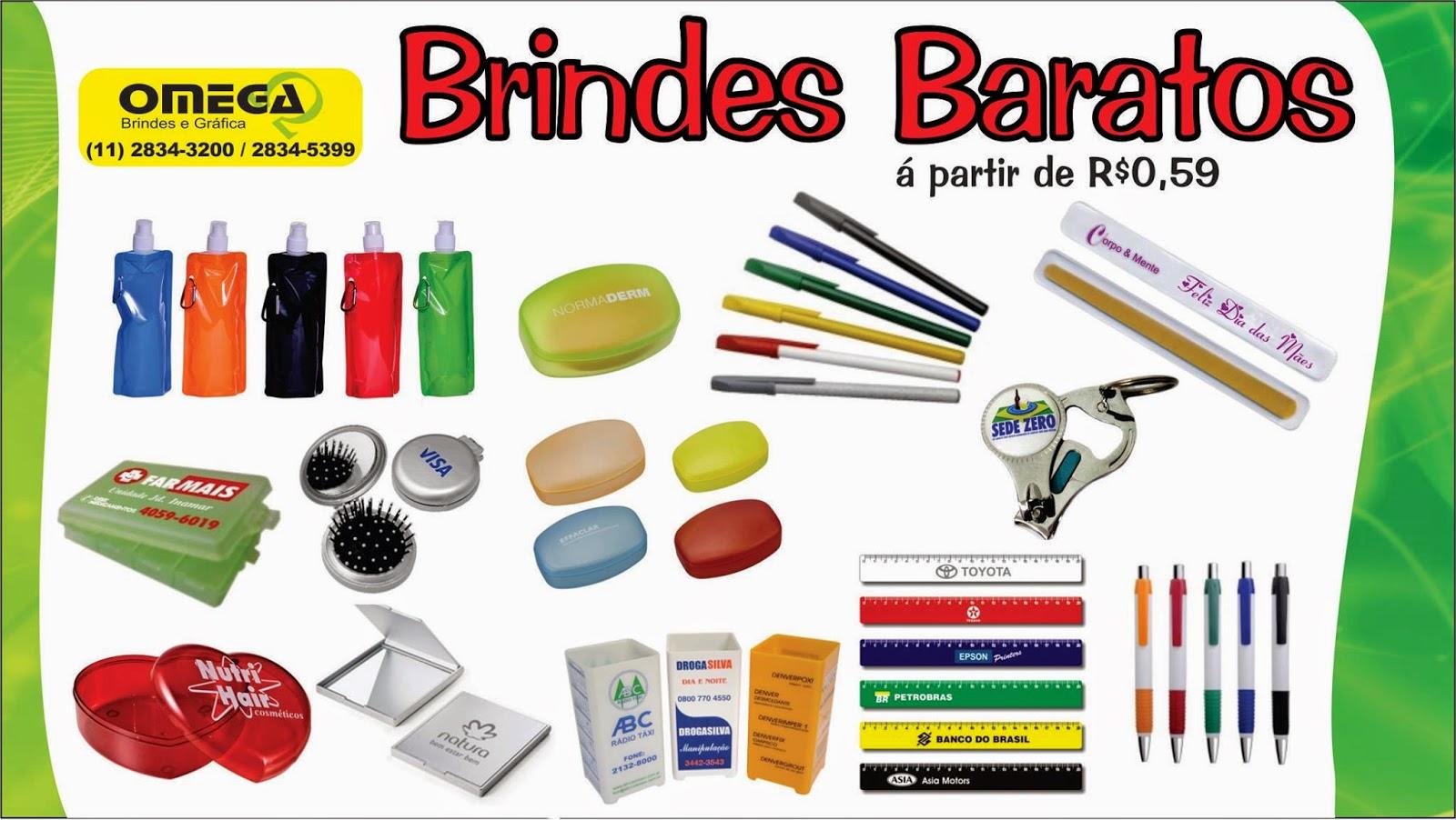 8c72abd08 ... pensando nisto a Omega Brindes oferece Brindes Baratos a partir de R$  0,39 para ajudar na sua divulgação em eventos feira e distribuição e geral.