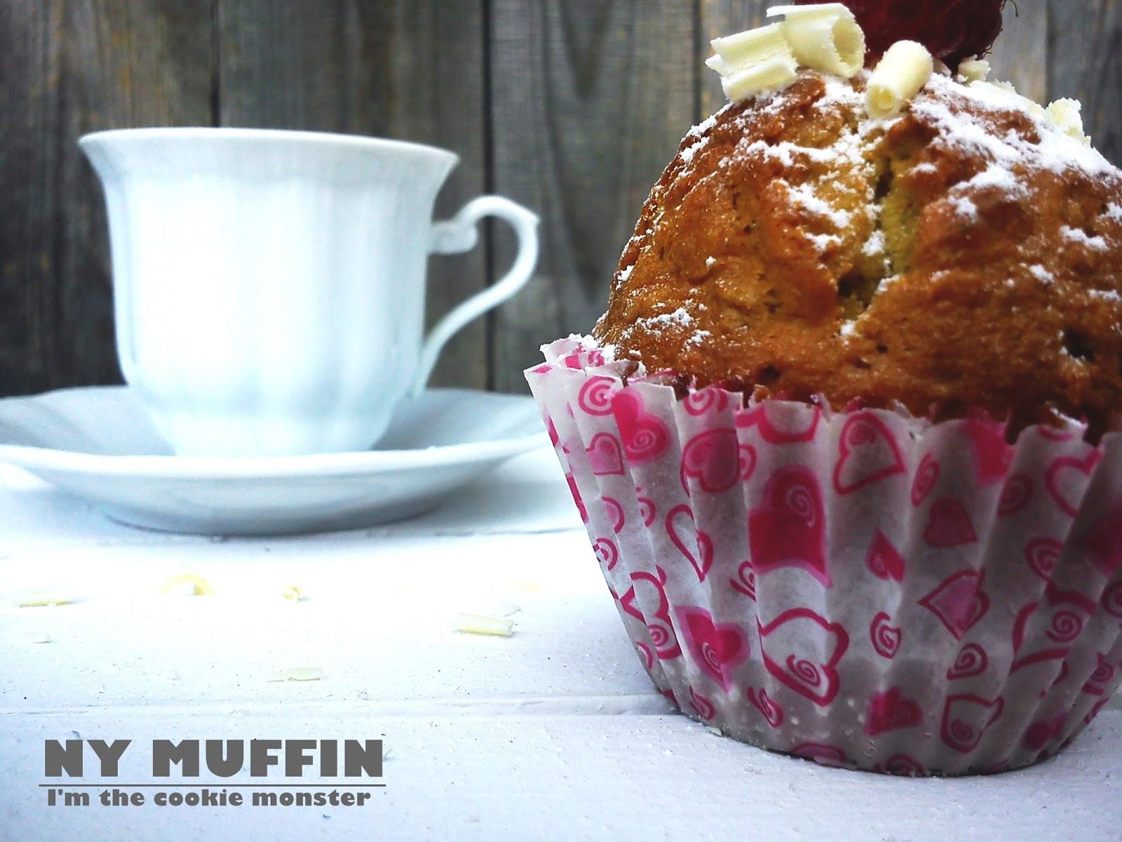 Owsiane muffinki babeczki z białą czekoladą