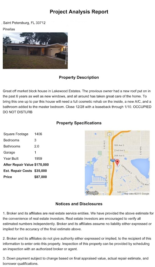 Off Market Pinellas Property!!!