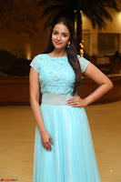 Pujita Ponnada in transparent sky blue dress at Darshakudu pre release ~  Exclusive Celebrities Galleries 021.JPG