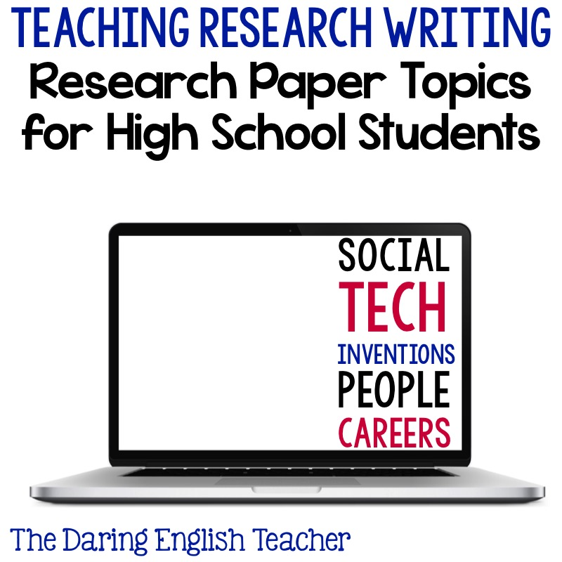 topic for research paper for high school Few students enjoy the prospect of writing a research paper and the stress starts  early on in the process: defining a good topic most often, the.