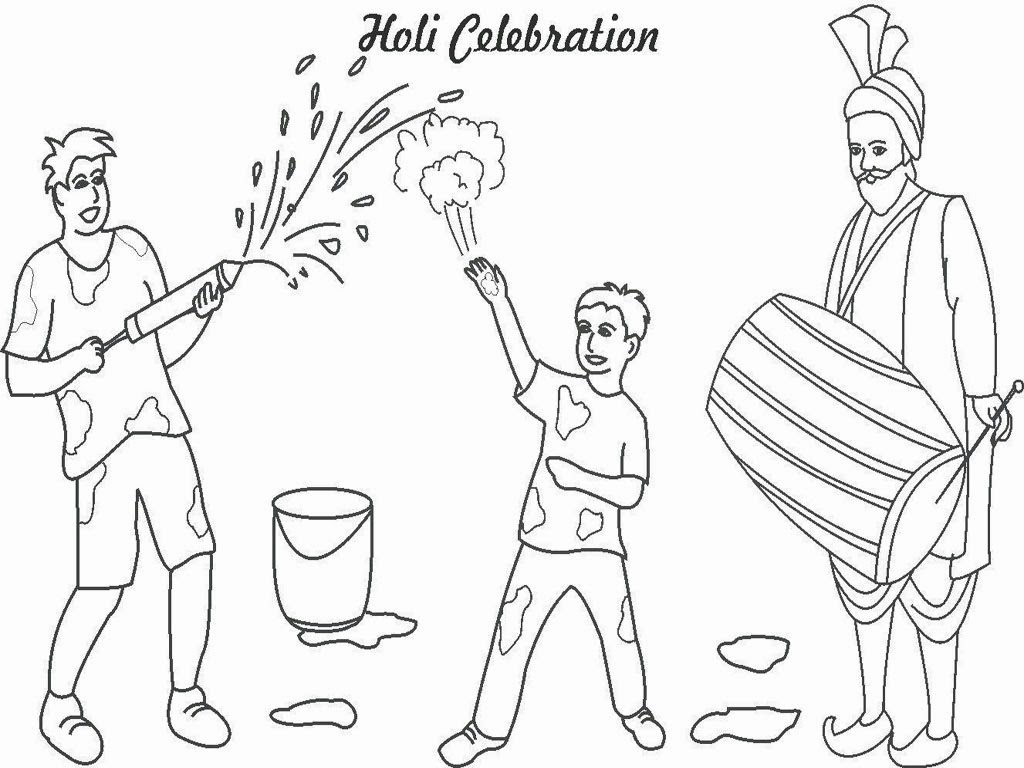 Colouring pages holi - Https Www Happyholiwishes Com