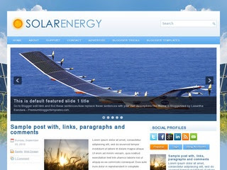 SolarEnergy blogger template
