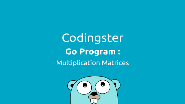 Go Program To Multiplication Two Matrices (Golang)