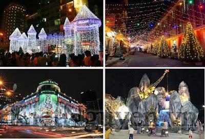 Hình ảnh các Khu xóm đạo trong đêm Giáng Sinh