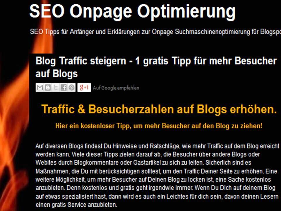 Website Traffic erhöhen, Mehr Besucher auf dem Blog
