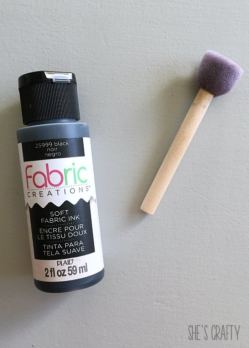fabric paint, sponge pouncer