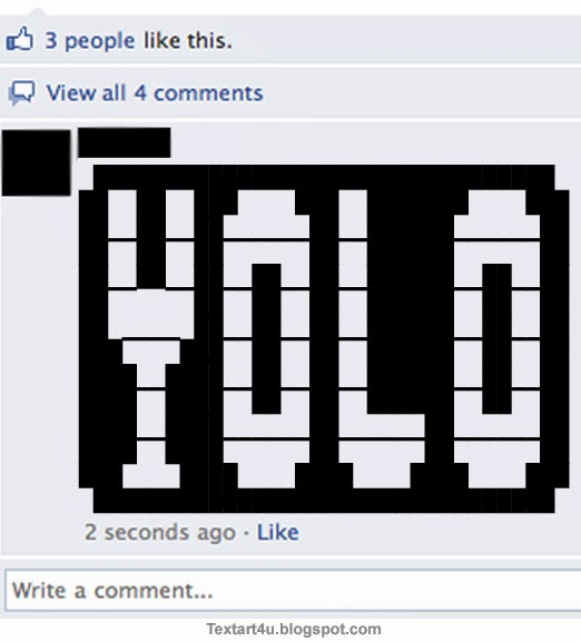YOLO Copy Paste Text Art For Facebook | Cool ASCII Text ... Symbols Copy And Paste Cool