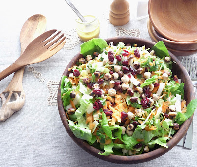 Endive & Carrot Salad with Hazelnuts & Cranberries