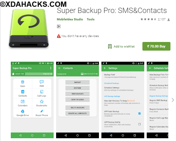 Super Backup Pro SMS&Contacts v2.2.18 Paid.apk