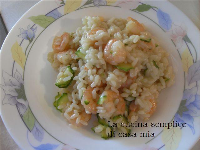 La cucina semplice di casa mia risotto zucchine e gamberetti for Ricette culinarie